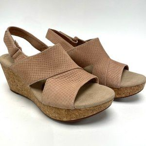 Collection Clarks Annadel Sky Wedge Sandal Sz 9.5